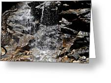 Window Waterfall Greeting Card by Dan Sproul