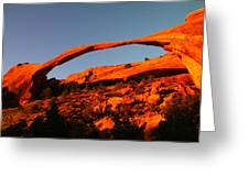 Windows Arch In The Morning Greeting Card by Jeff  Swan