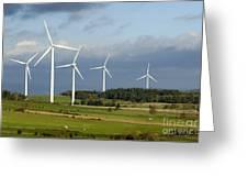 Windturbines Greeting Card by BERNARD JAUBERT