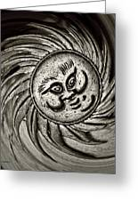 Windy Sun Greeting Card by Chris Berry