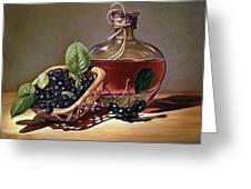 Wine And Berries Greeting Card by Natasha Denger