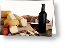 Wine And Cheese Greeting Card by Cole Black