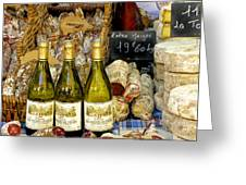 Wine and Cheese Greeting Card by Douglas J Fisher