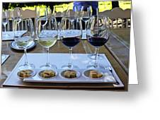Wine and Cheese Tasting Greeting Card by Kurt Van Wagner