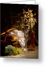 Wine And Romance Greeting Card by Tom Mc Nemar