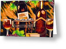 wine Greeting Card by Angelika Bentin
