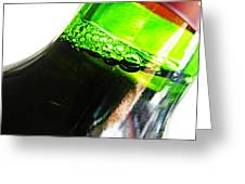 Wine Bottle Greeting Card by Sarah Loft
