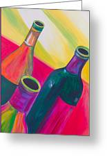 Wine Bottles Greeting Card by Debi Starr