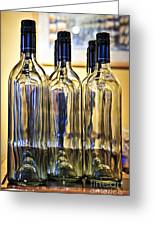 Wine Bottles Greeting Card by Elena Elisseeva