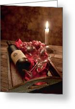 Wine By Candle Light I Greeting Card by Tom Mc Nemar