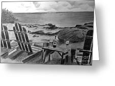 Wine By The Sea Greeting Card by Nancy McNamer