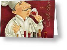 Wine Chef I Greeting Card by Shari Warren