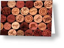 Wine corks Greeting Card by John Stuart Webbstock