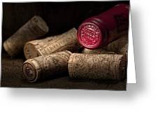 Wine Corks Still Life Iv Greeting Card by Tom Mc Nemar