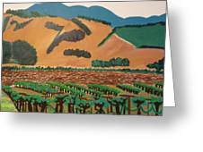 Wine Country  Greeting Card by Kathleen Fitzpatrick