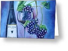 Wine Dance Greeting Card by Ruben  Archuleta - Art Gallery