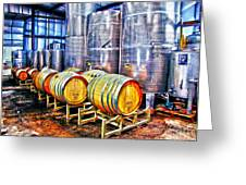 Wine Fermentation Greeting Card by Annie Zeno