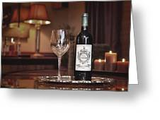 Wine For One Greeting Card by Dennis James