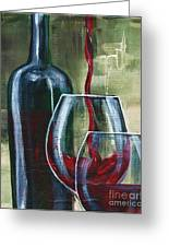 Wine For Two Greeting Card by Lisa Owen-Lynch