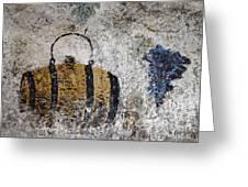Wine Fresco Greeting Card by Bernard Jaubert