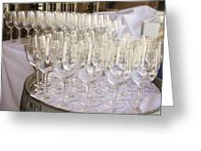 Wine Glasses Greeting Card by Dee  Savage