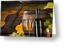 Wine Greeting Card by Joe Hamilton