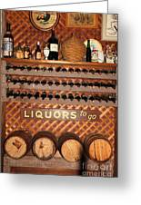 Wine Rack In The Cellar Room At The Swiss Hotel In Sonoma California 5d24452 Greeting Card by Wingsdomain Art and Photography