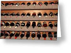 Wine Rack In The Private Dining Room At The Swiss Hotel In Sonoma California 5d24462 Greeting Card by Wingsdomain Art and Photography