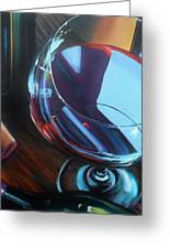Wine Reflections Greeting Card by Donna Tuten