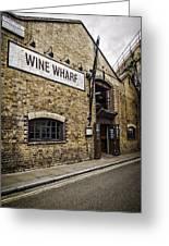 Wine Wharf Greeting Card by Heather Applegate