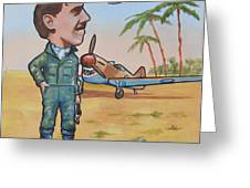 Wing Cdr.Clive Caldwell Greeting Card by Murray McLeod