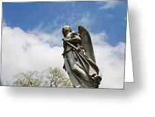 Winged Angel Greeting Card by Jennifer Ancker