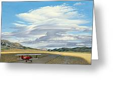 Winged Dreams -travelaire Biplane Greeting Card by Paul Krapf