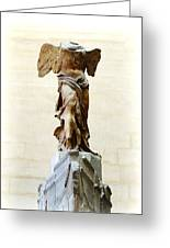 Winged Victory Of Samothrace Greeting Card by Conor OBrien