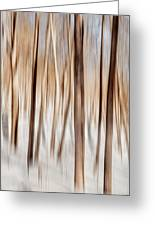 Winter Abstract Greeting Card by Bill Wakeley
