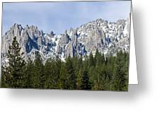 Winter At Castle Crags Greeting Card by Loree Johnson