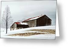 Winter Barn Greeting Card by Michael Swanson