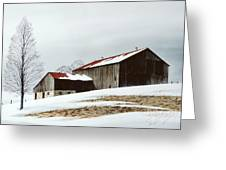 Winter Barn Greeting Card by Michael Swanson