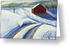 Winter Blues Greeting Card by Garry McMichael