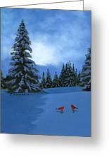 Winter Christmas Card 2012 Greeting Card by Cecilia Brendel