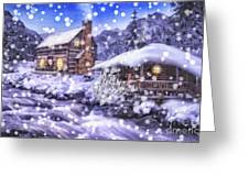 Winter Creek Greeting Card by Mo T