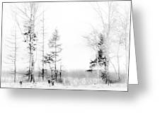 Winter Drawing Greeting Card by Jenny Rainbow