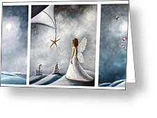 Winter Fairies By Shawna Erback Greeting Card by Shawna Erback