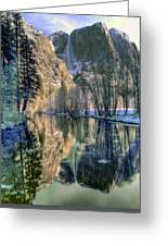 Winter Falls Greeting Card by Bill Gallagher