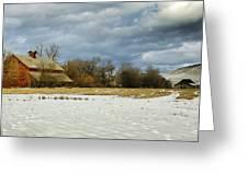 Winter Farm Greeting Card by Steve McKinzie