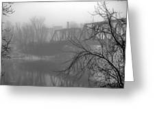 Winter Fog Greeting Card by Bob Orsillo