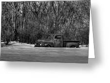 Winter Ford Truck 1 Greeting Card by Thomas Young