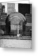 Winter Garden At World Trade Financial Center New York City Greeting Card by Joe Fox