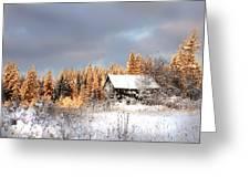 Winter Glow Greeting Card by Doug Fredericks