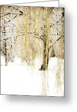 Winter Gold Greeting Card by Julie Palencia